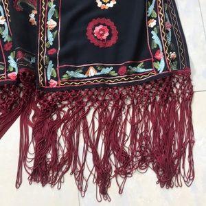 Zara Jackets & Coats - Zara Embroidered Kimono